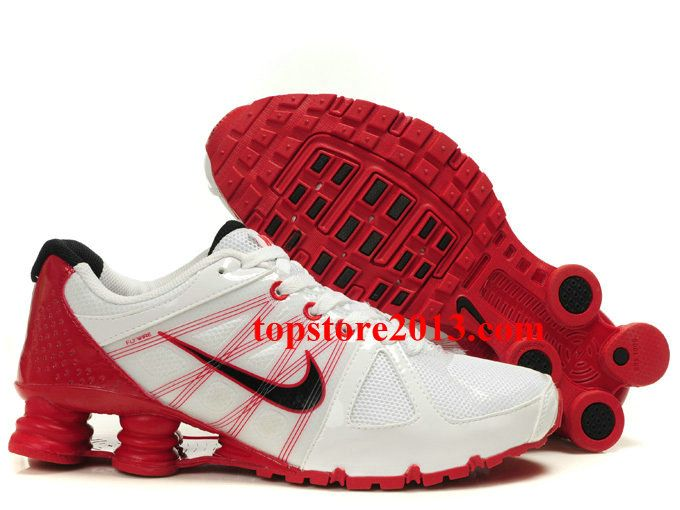 Classic Nike Shox Agent+ Shoes White Red