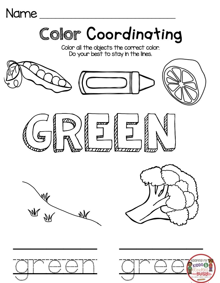 Kindergarten Back To School Worksheets And Activities Kindergarten Backtoschool Color Worksheets For Preschool Kindergarten Learning Preschool Learning [ 1168 x 908 Pixel ]