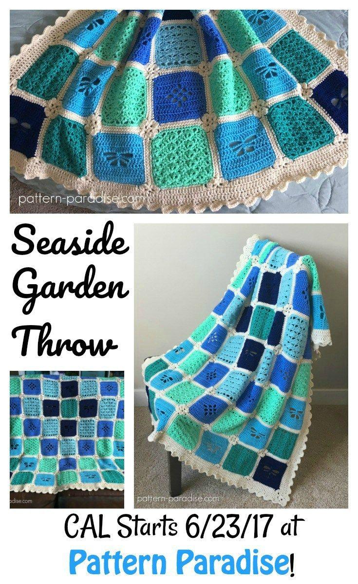Seaside Garden Throw Crochet-Along   Pattern Paradise   Crochet ...