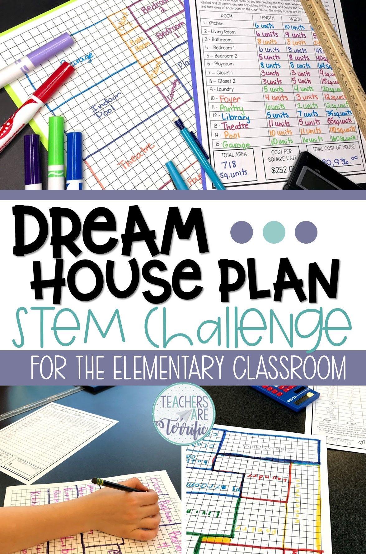Dream House Floor Plan Quick Stem Challenge Teachers Are Terrific Stem Challenges Math Challenge