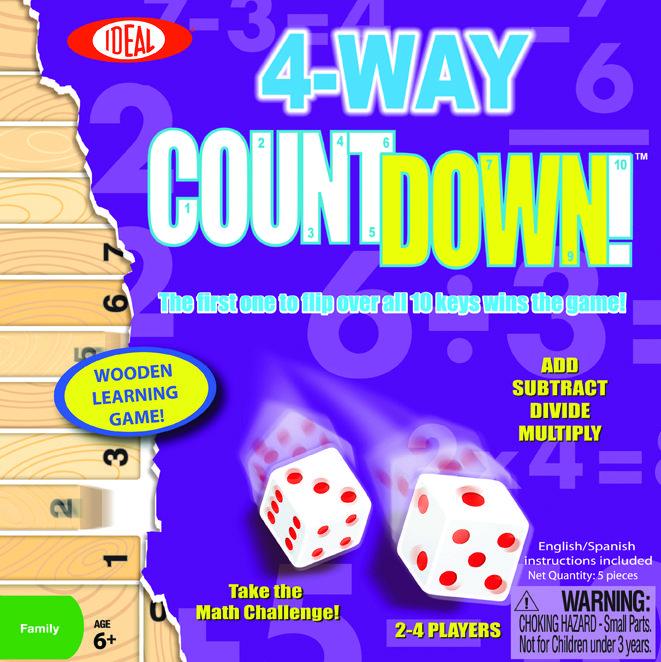 4-Way Countdown Wooden Game - Award Winning Math Game @ http://www.newtsgames.com/4-way-countdown-wooden-game-award-winning-math-game.html