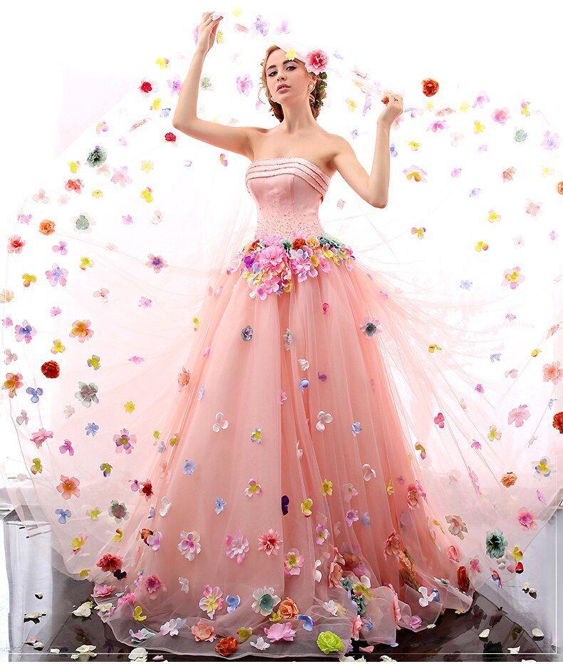 Strapless Flower Fairy Quinceanera Dresses Dear valuable