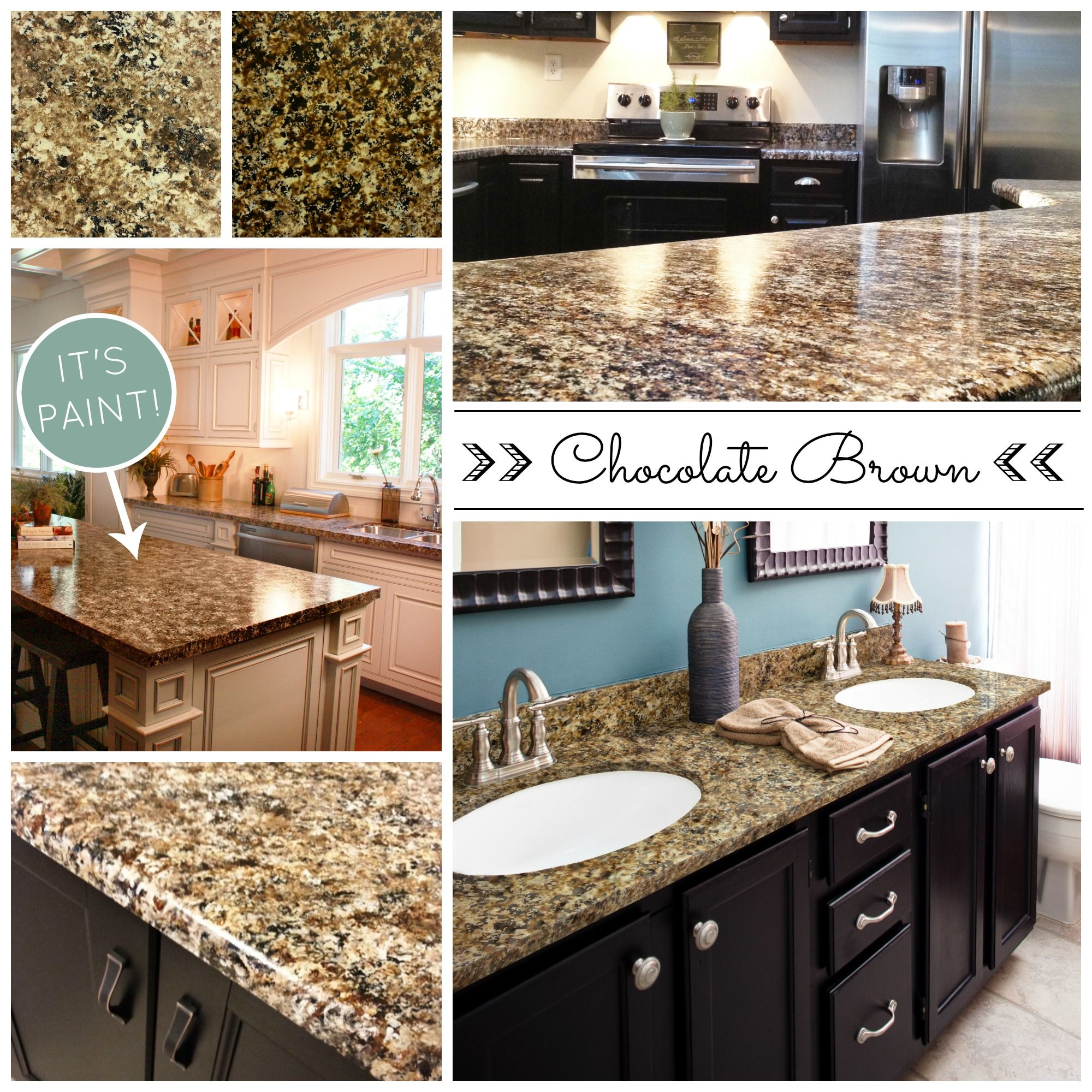 Beautiful and affordable painted countertops diy