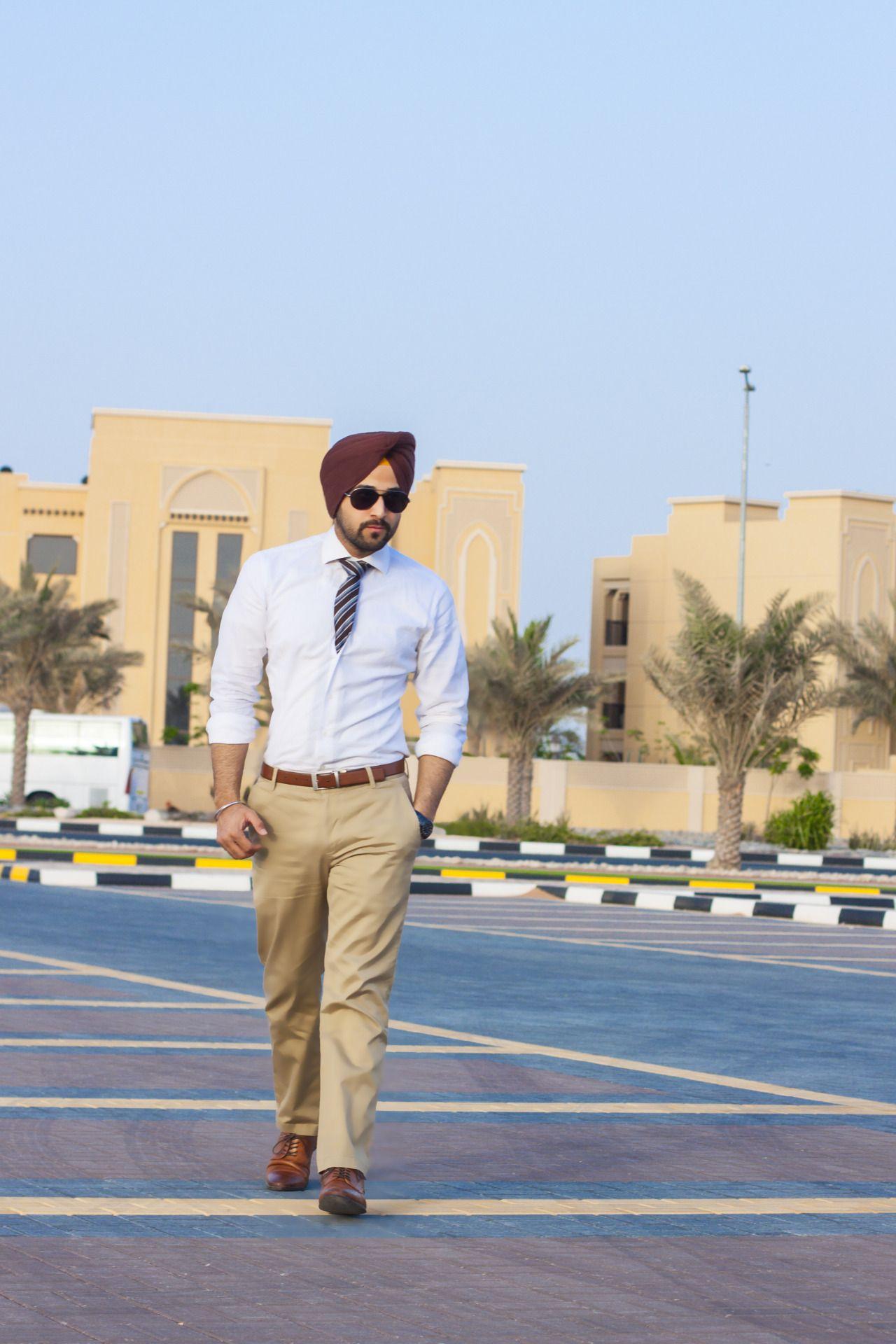 Sikh Model Sikh Men Fashion Style Surjit Singh Simple Formal Look