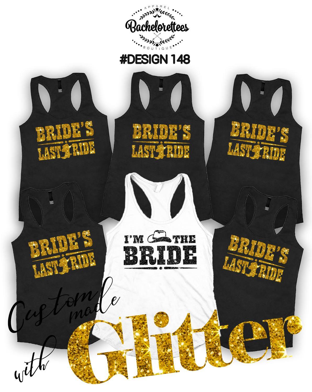 Brides Last Ride Bridal party shirts 98dea76509c0