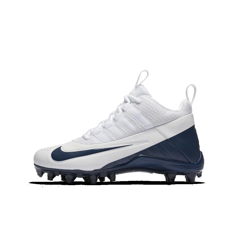 4999d1f7f Nike Alpha Huarache 6 Big Kids  Lacrosse Cleat Size 3.5Y (White)
