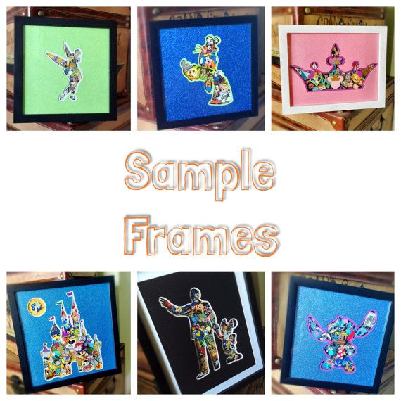 Disney Trading Pin Shadowbox Display w Silhouette by OMGcreative ...