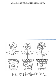 MothersDayColoringCardFlowersThumb Mothers day coloring