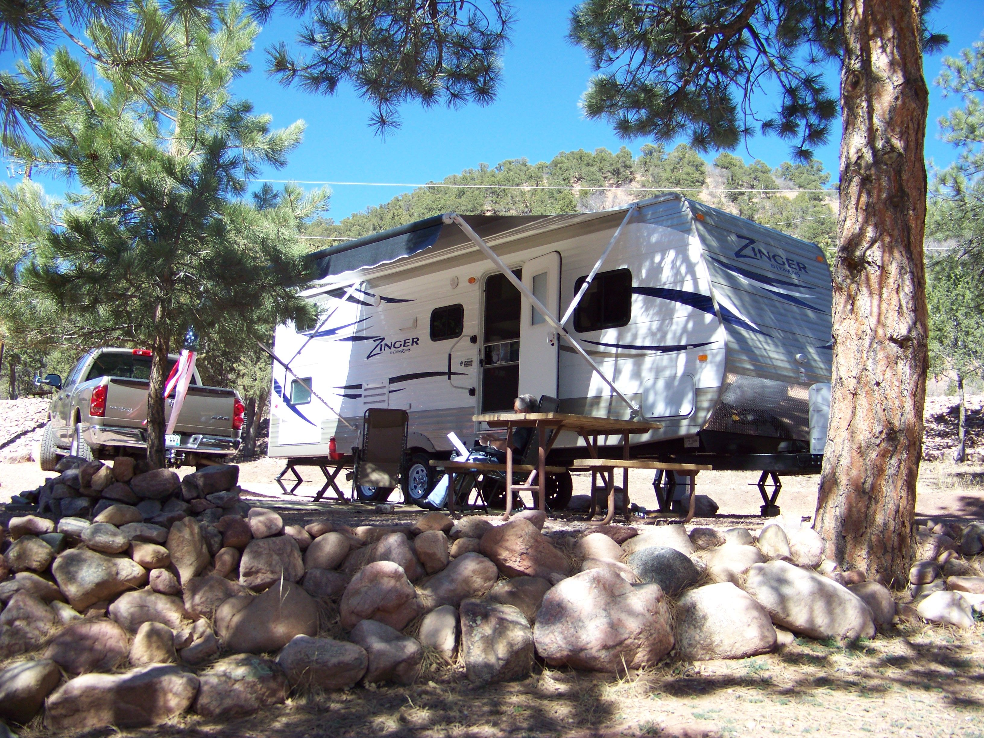 Camping At Mountaindale Cabins And RV Park, Colorado Springs, CO