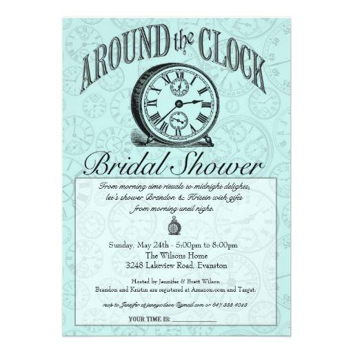 Around The Clock Bridal Shower Invitation Bridal Shower Ideas