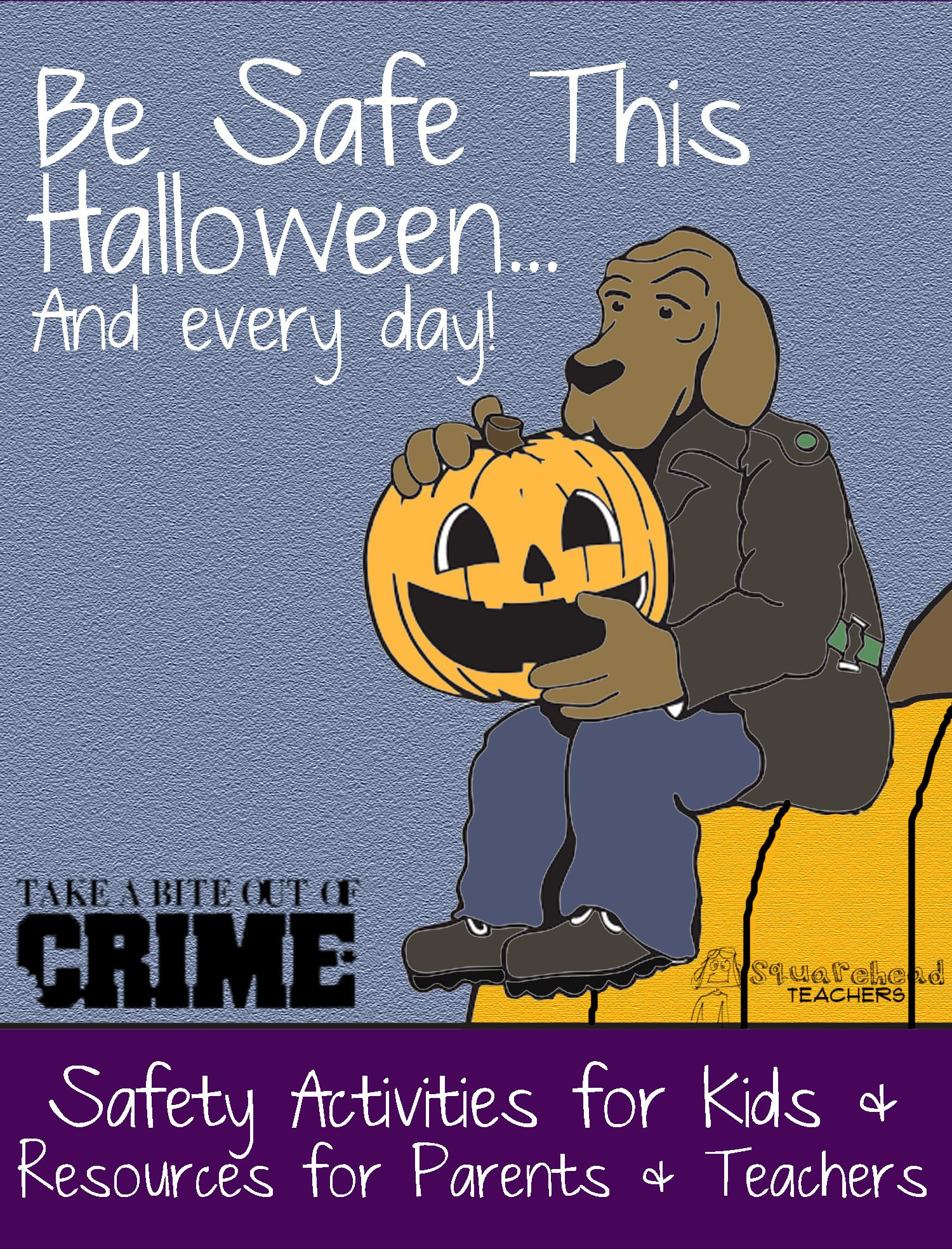Safety While TrickorTreating Activities for kids, Free