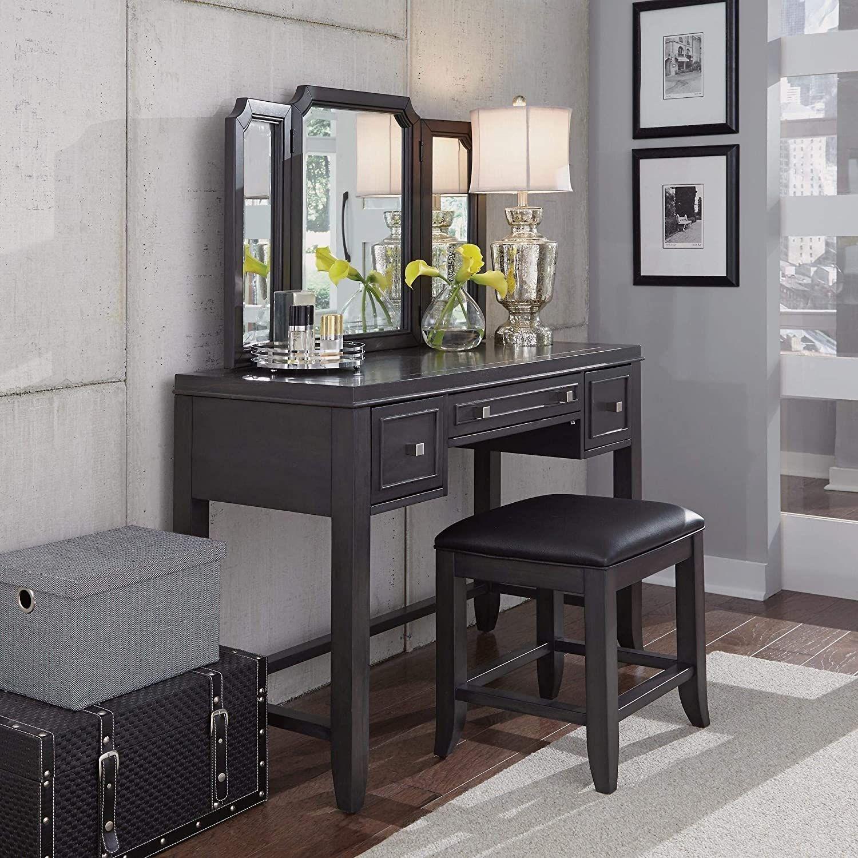 5th vanity bench grey modern contemporary mahogany veneer
