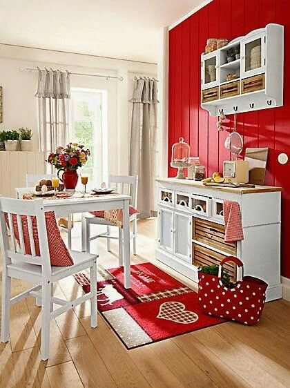 Growing up, my best friend\'s mother had a red kitchen and It ...