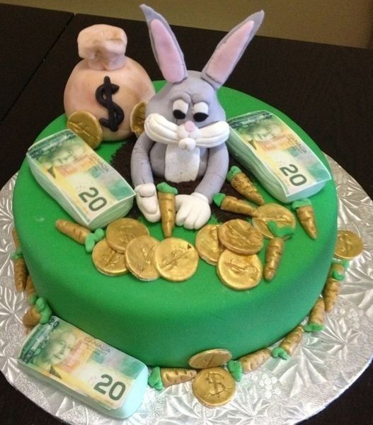 Handmade Bugs Bunny Out Of Gumpaste As Well As The