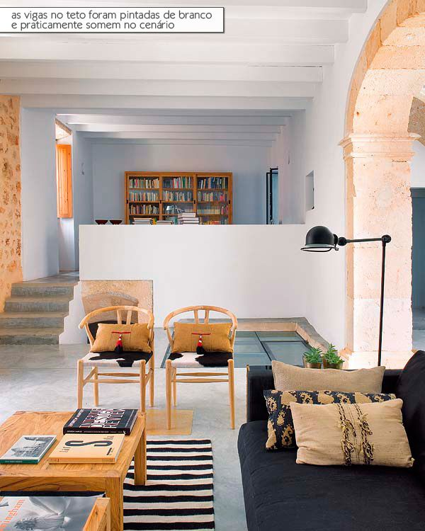 The white color and stone in the décor.