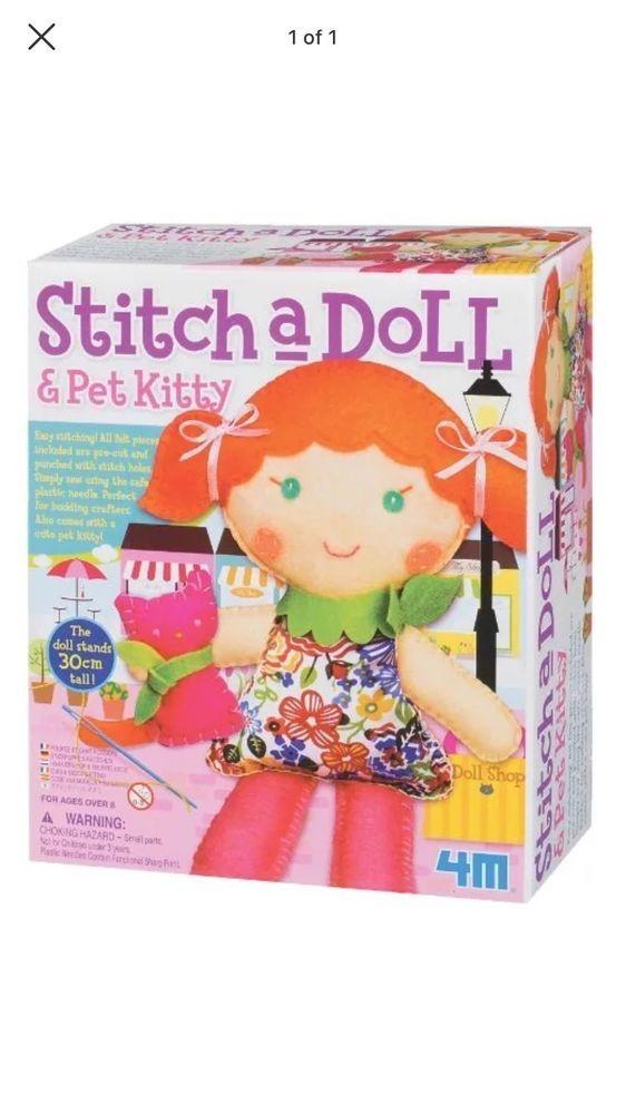 4M Stitch A Doll Pet Kitty eBay Thrift flips Pinterest Kitty