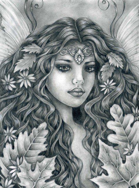 F e elfes projets essayer pinterest art dessin sorci res coloriage et art f rique - Dessin elfes et fees ...