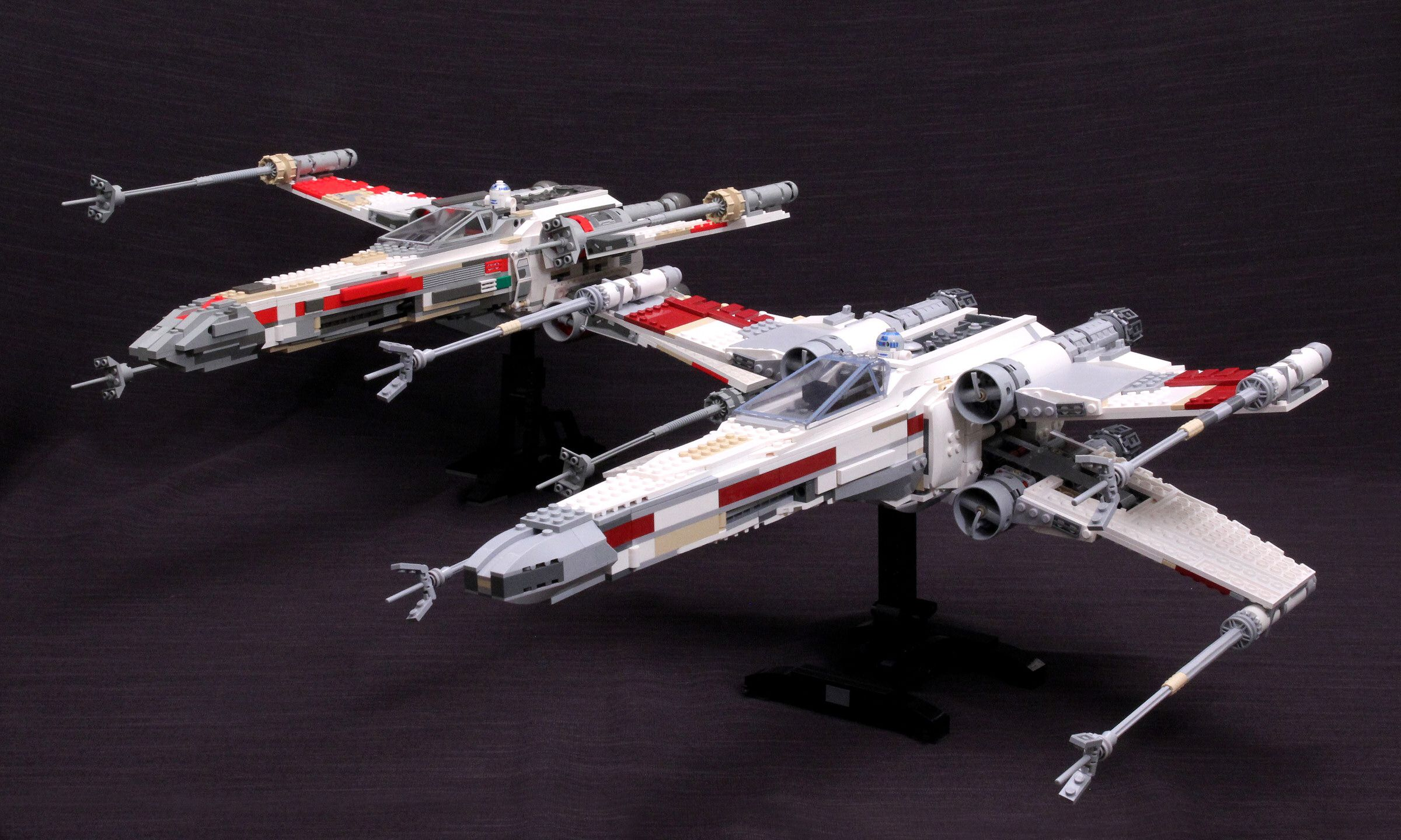 Lego Star Wars Side By Side Review 10240 Red Five X Wing Starfighter And 7191 Ucs X Wing Fighter Lego Star Wars X Wing Starfighter Starfighter