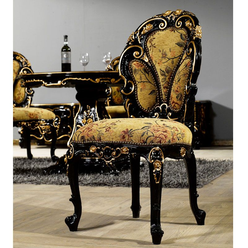 Buy Black Baroque Dining Chair | Mahogany Antique Furniture | Indonesia  Furniture