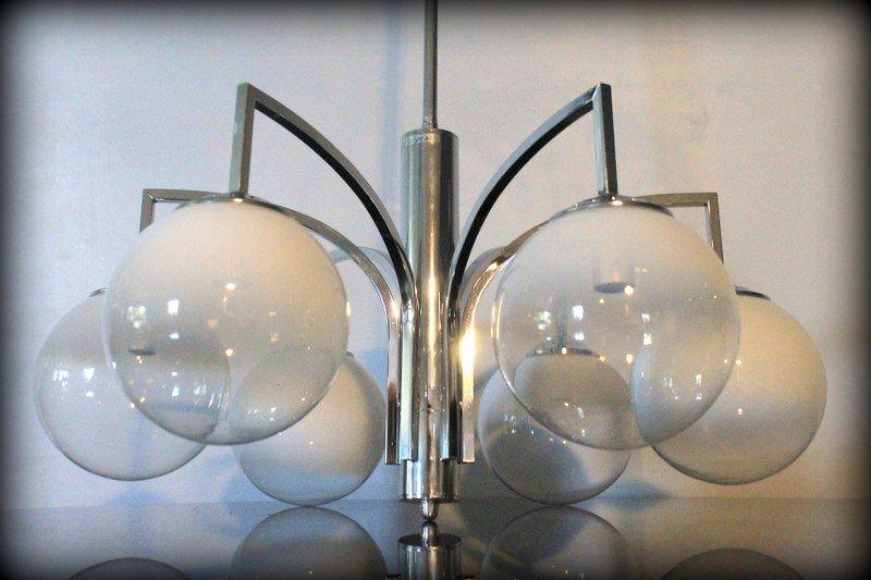 Vintage stijlvolle design luchter Targetti Sankey Italië - Vintage Design Lighting