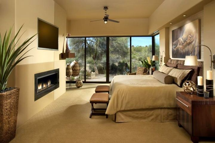 modern gas fireplace bedroom ideas that keep you warm and tidy