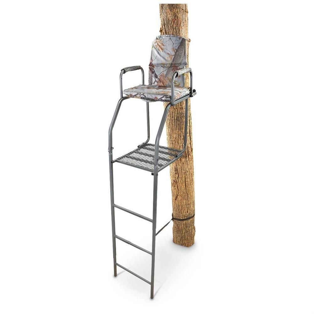 Bow hunting chair - Ladder Tree Stand 16 Archer S Bow Hunting Chair Gg