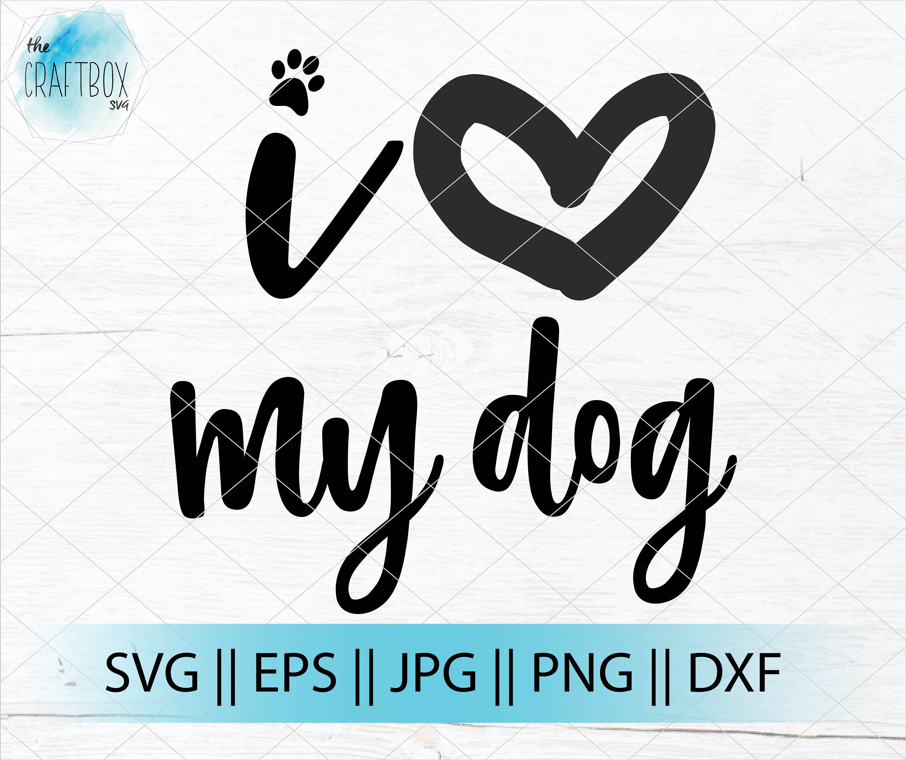 1882+ Love With Dog Paw Svg Crafter Files