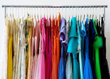 Organize your wardrobe by color! This makes it easy to select your  garments! I