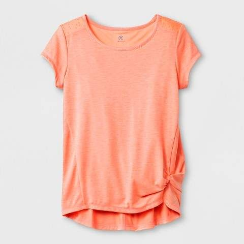 803517c171c Girls  Laser Cut T-Shirt  Breathable wicking fabric
