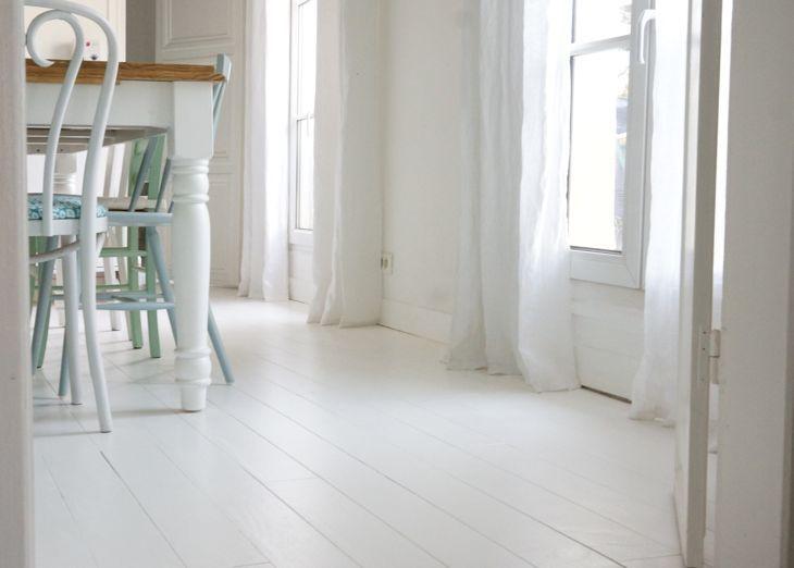 Peindre son parquet en blanc  le mode du0027emploi Decor Pinterest