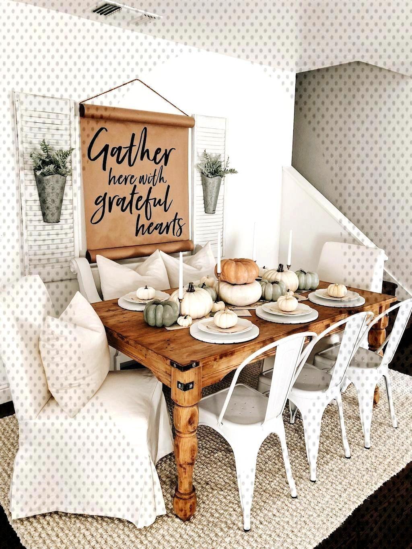 15+ Beautiful Fall Farmhouse Dining Room Decor Ideas 15+ Beautiful Fall Farmhouse Dining Room Decor