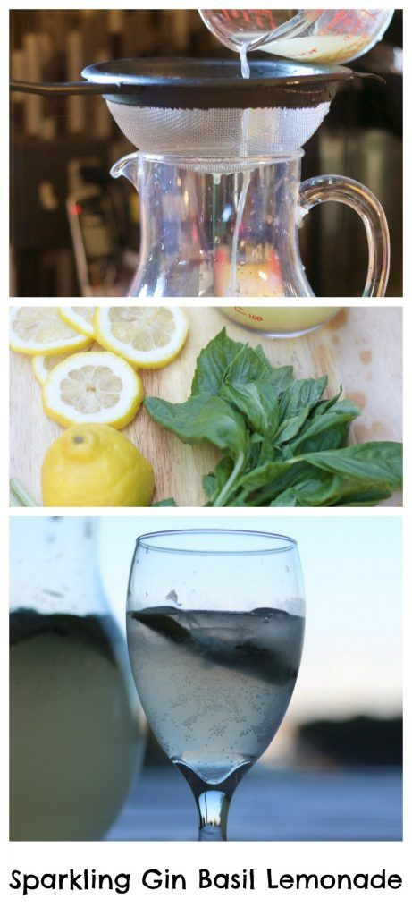 Sparkling Gin Basil Lemonade - Erin Brighton | cocktails | gluten free recipes | party drinks | summer drinks | herbs