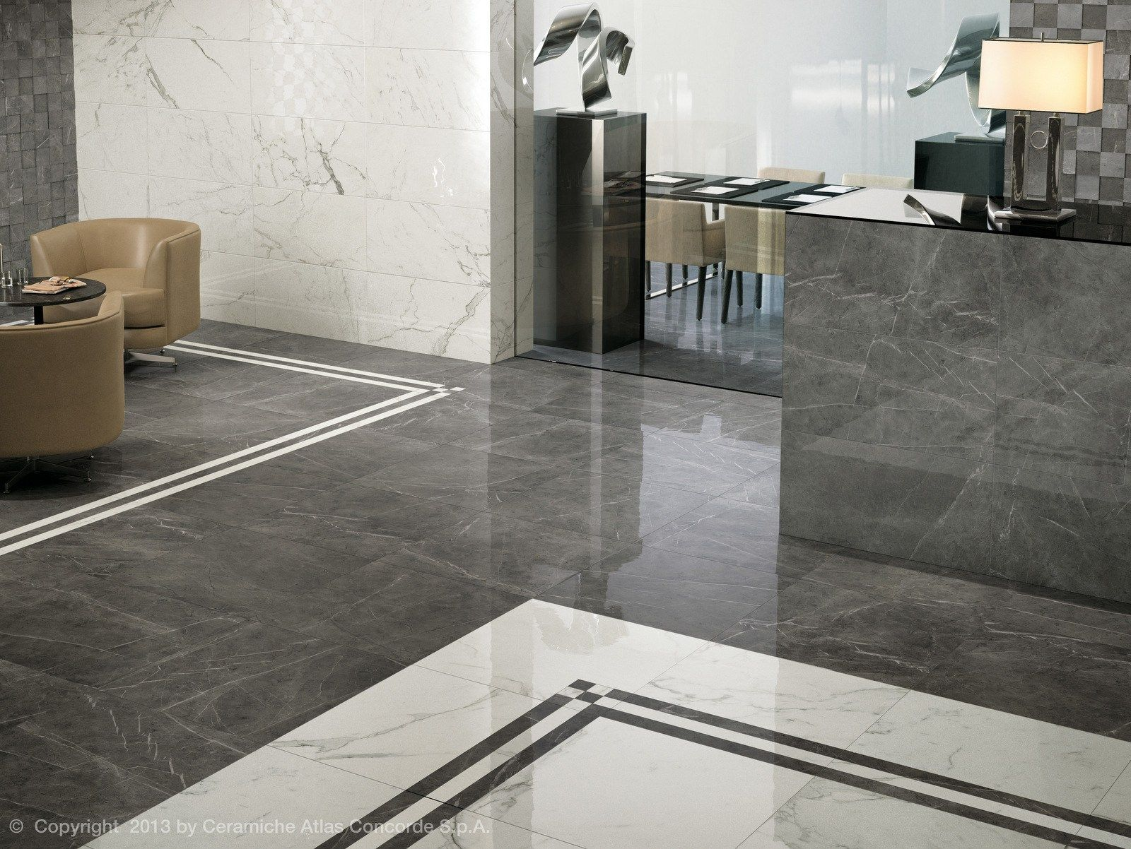 Porcelain Stoneware Flooring With Marble Effect Marvel