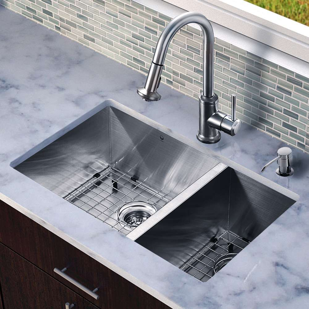 Drop In Sink Vs Undermount Sink Stainless Steel Faucets Sink