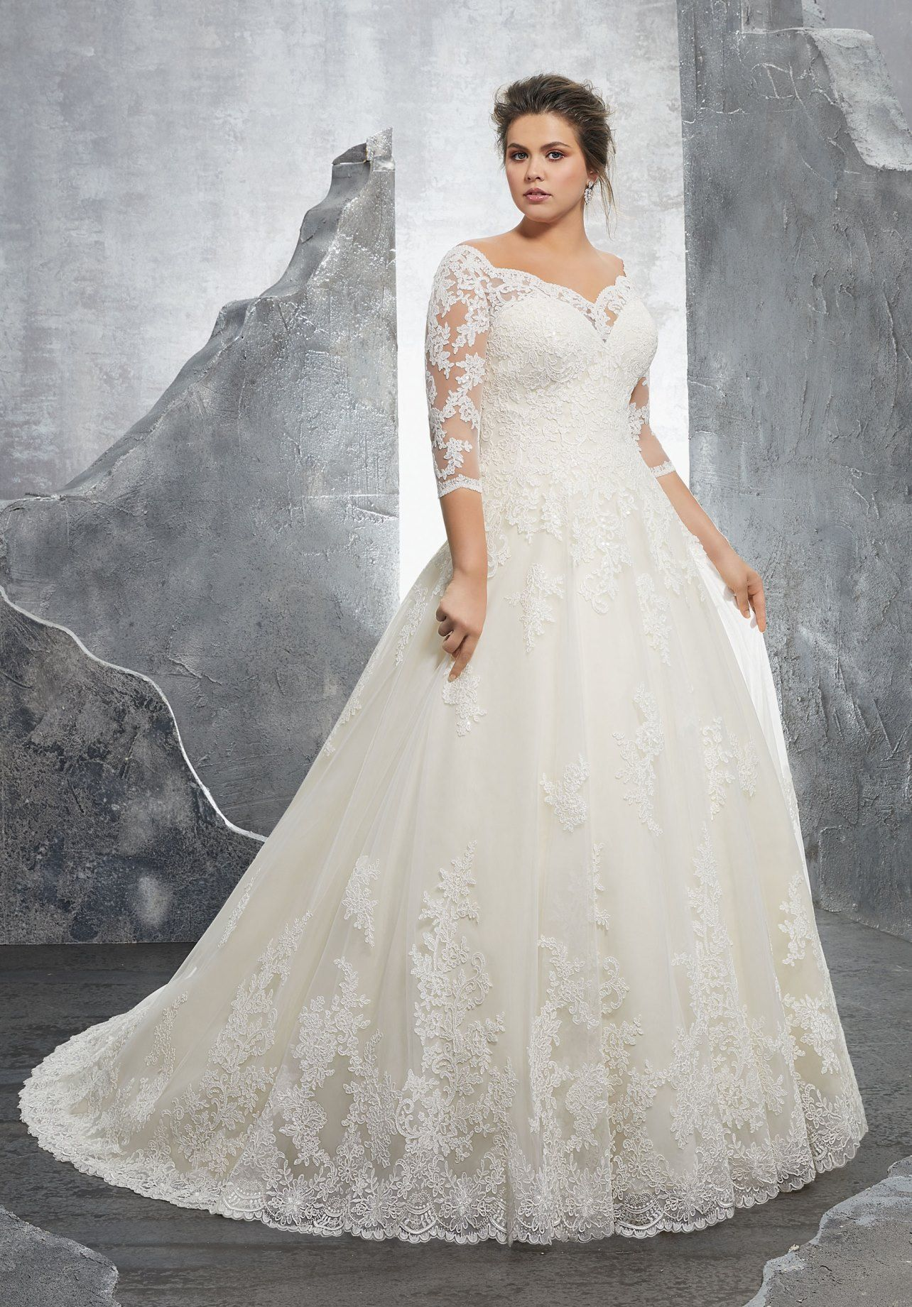 Dress Mori Lee Julietta Spring 2018 Collection 3235 Kosette Plussize Brid Plus Size Wedding Dresses With Sleeves Plus Wedding Dresses Ball Gowns Wedding