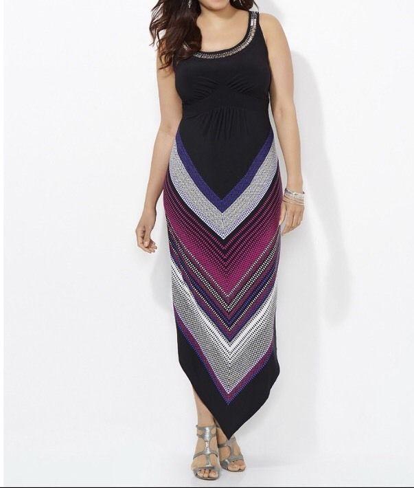 Catherines To The Point Maxi Dress Plus Size 4x 3032w