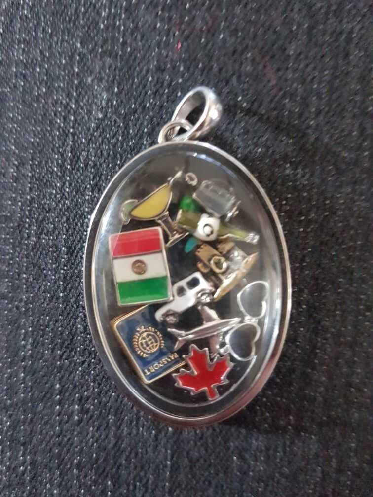 My Looking Glass locket is filled with charms for my Mexico