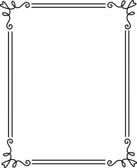 borders and frames Simple Elegant Black Frame 2 - Free Clip Art - certificate borders for word