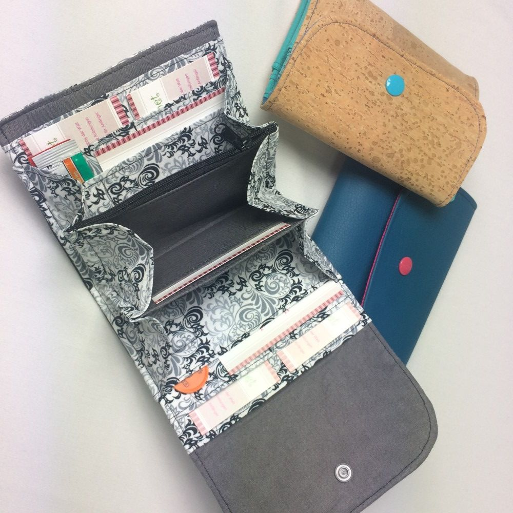 Portemonnaie – selbernähen.net Mehr | Leder Hensel | Pinterest ...