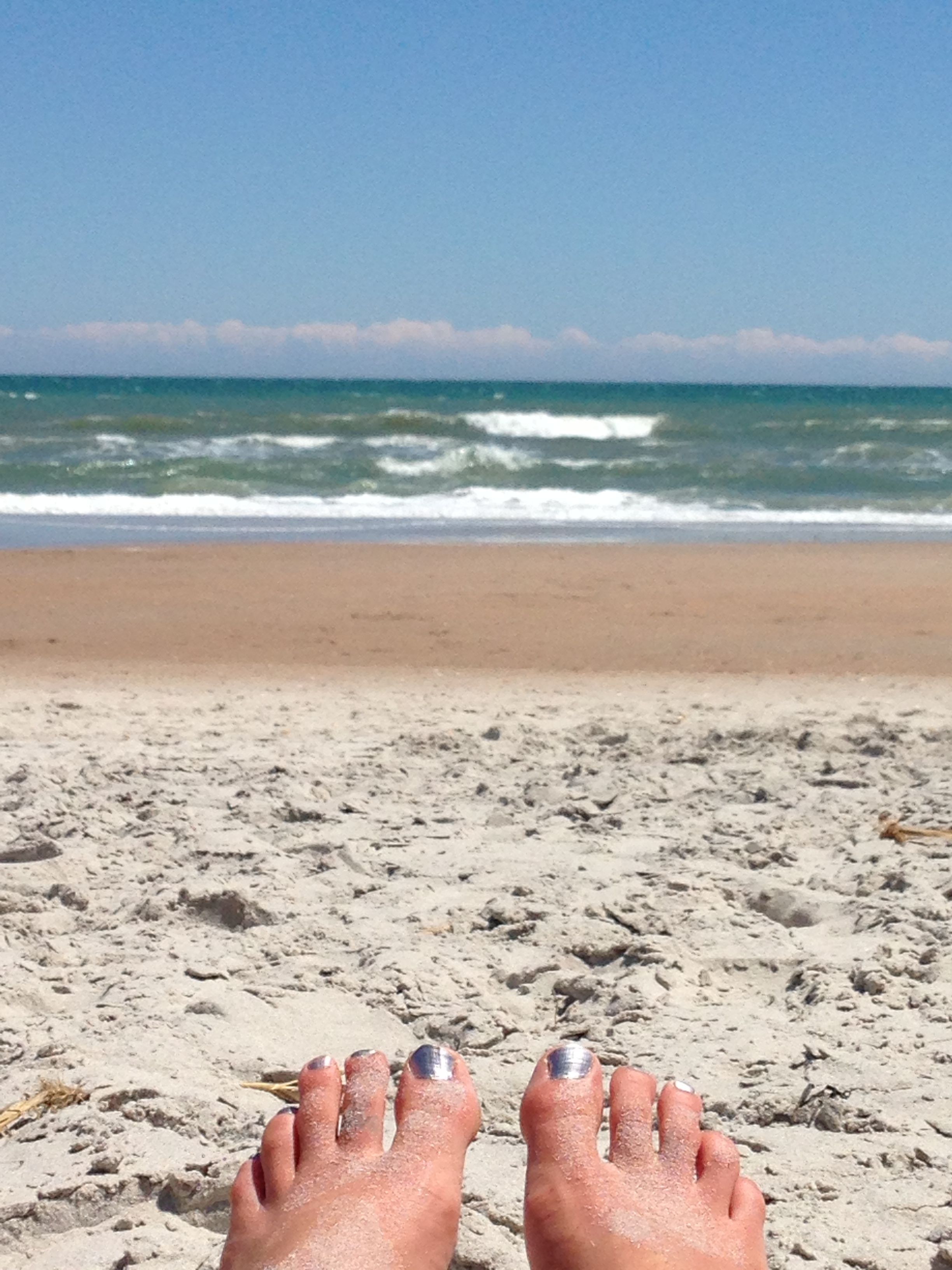 Toes in the Sand. #SurfCity #NC