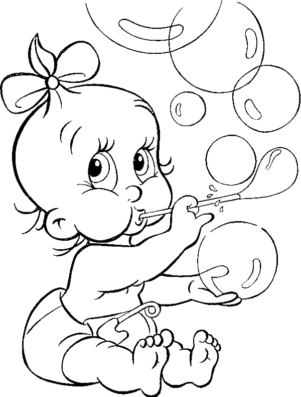 online baby coloring pages - photo#22