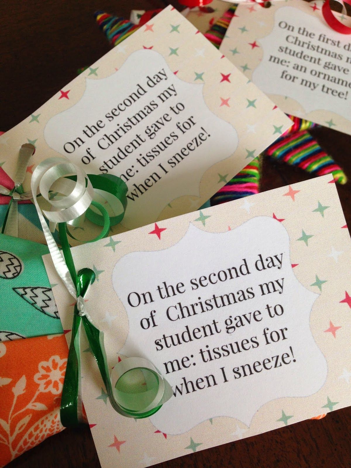 12 Days Of Christmas Teacher Edition With A Twist For Friends As Well Teacher Christmas Gifts Teacher Appreciation Gifts Preschool Christmas