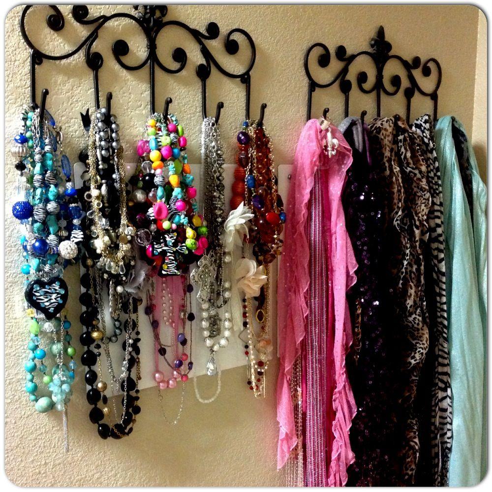 Hobby lobby iron hooks make organizing and hanging chunky for Hobby lobby jewelry holder