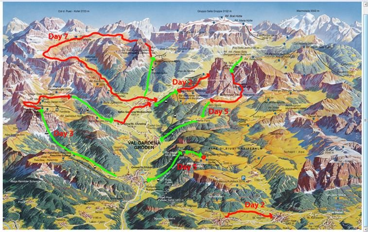 Dolomites hiking overview Alps n surrounding areas Pinterest