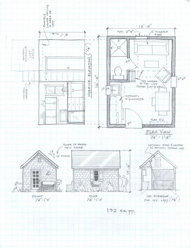 Small Cabin Plans, tiny houses, small house plan under 1000 sq ft ...