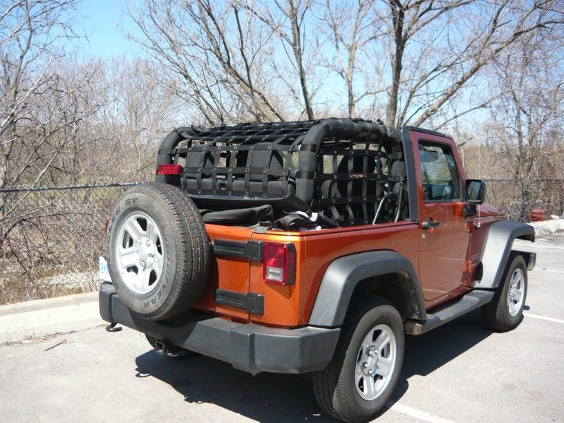 Netting For Jeep Wrangler Jk 2 Door 2007 Up 3 Pc Kit Jeep