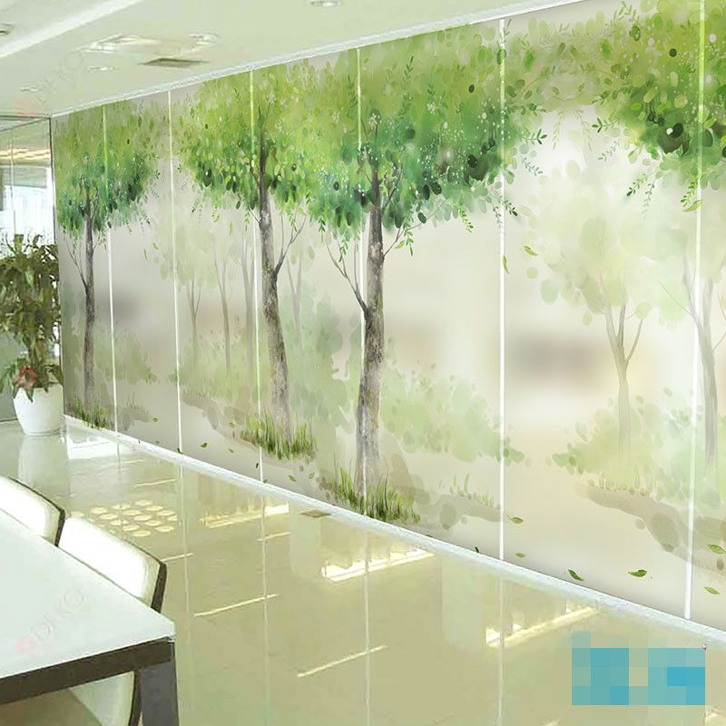 Decorative self adhesive static cling frosted stained window film custom sticker living room balcony glass