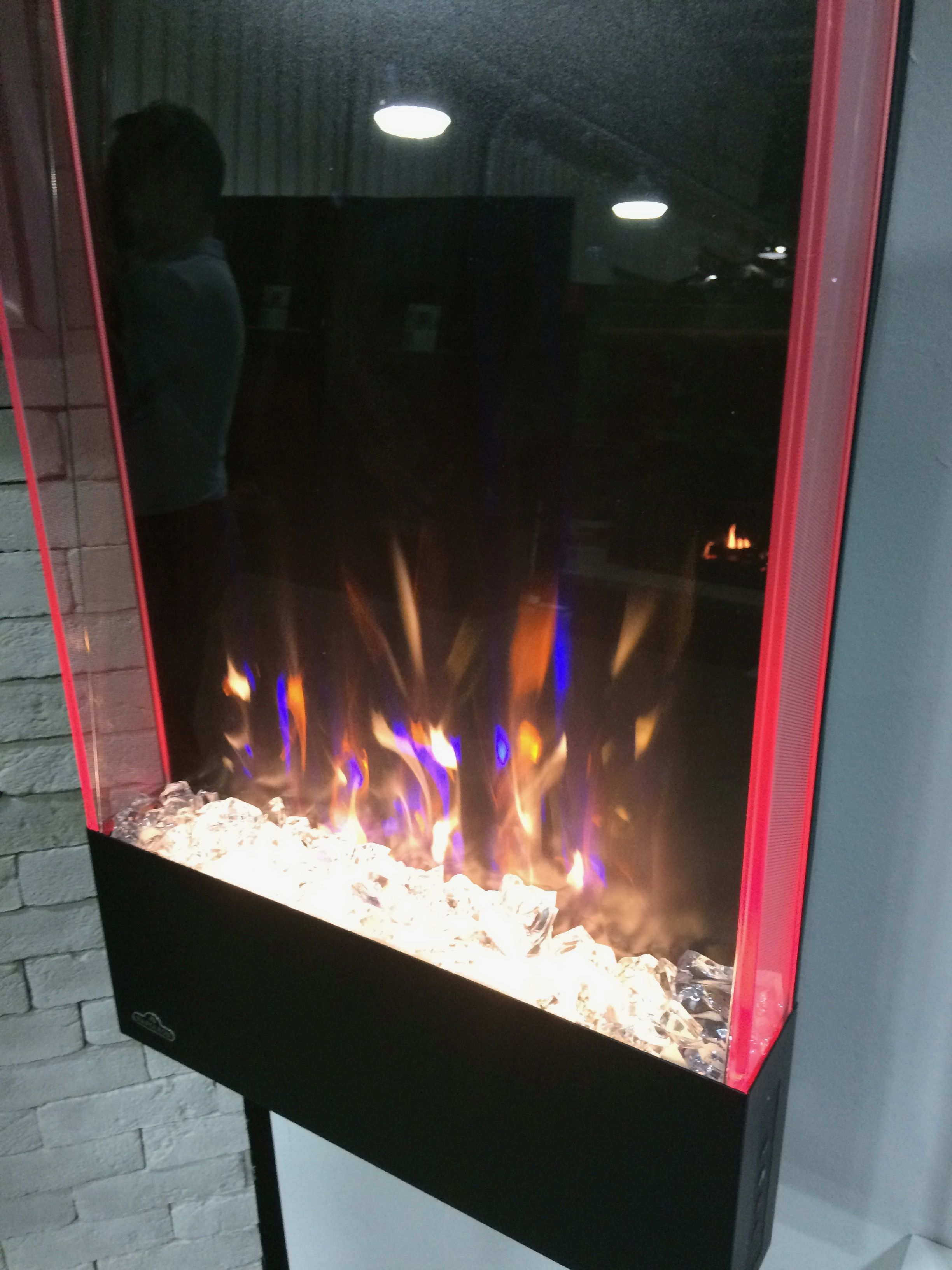 Napoleon S Allure Vertical Electric Fireplace Napoleon Electric Fireplace Realistic Electric Fireplace Electric Fireplace