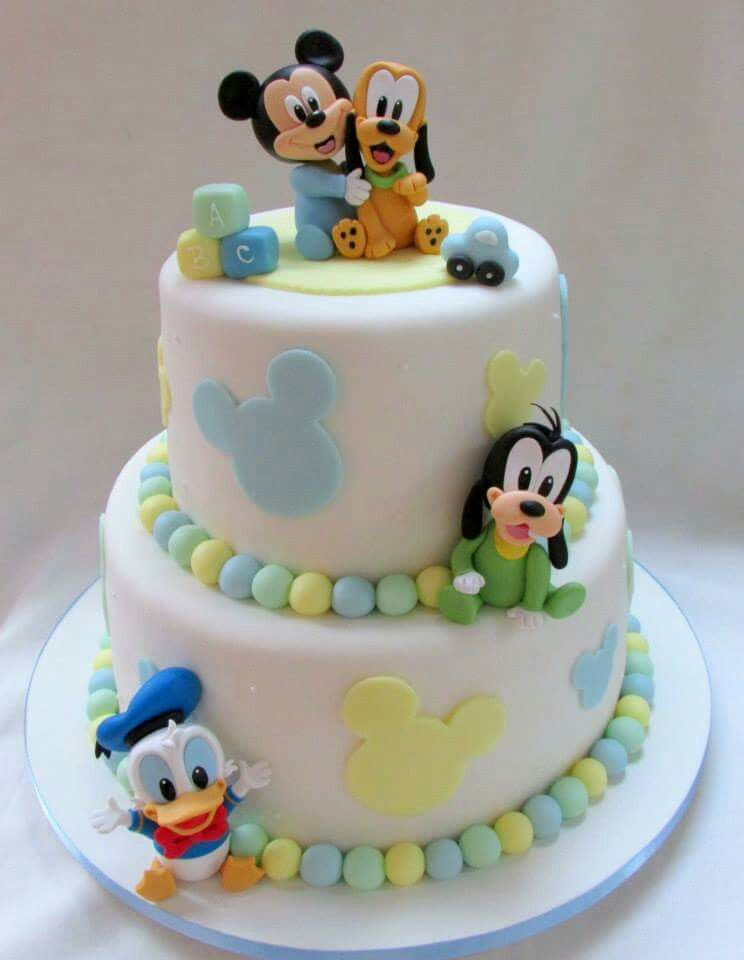 Astonishing Mickey With Images Baby Mickey Cake Baby Mickey Mouse Cake Personalised Birthday Cards Sponlily Jamesorg