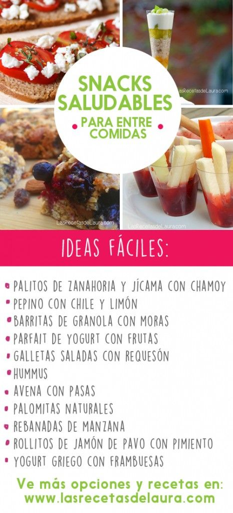ideas de snacks para bajar de peso